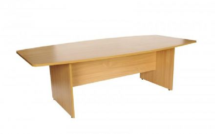 2400mm Beech Boat Shaped Boardroom Meeting Table